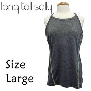 Long Tall Sally Gray Athletic Tank Size Large